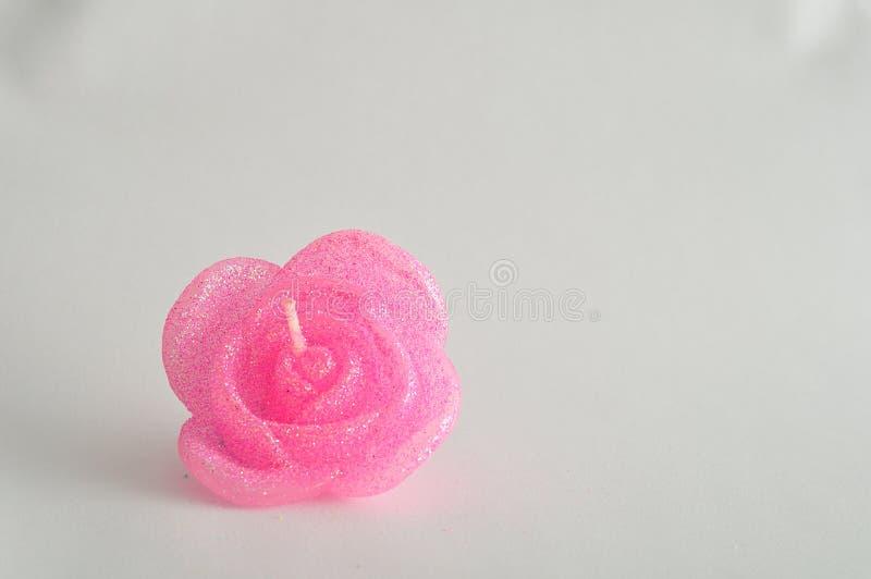 Candela sotto forma di una rosa immagine stock libera da diritti