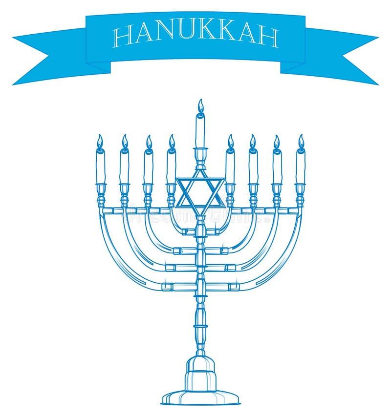 candelabro azul ilustração stock