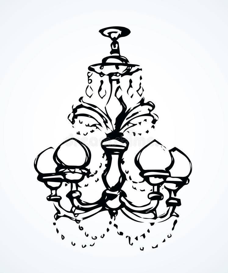 Candelabro Desenho do vetor ilustração stock