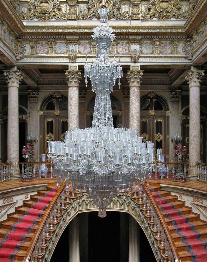 Candelabro do Baccarat no palácio de Dolmabahce, Turquia foto de stock royalty free