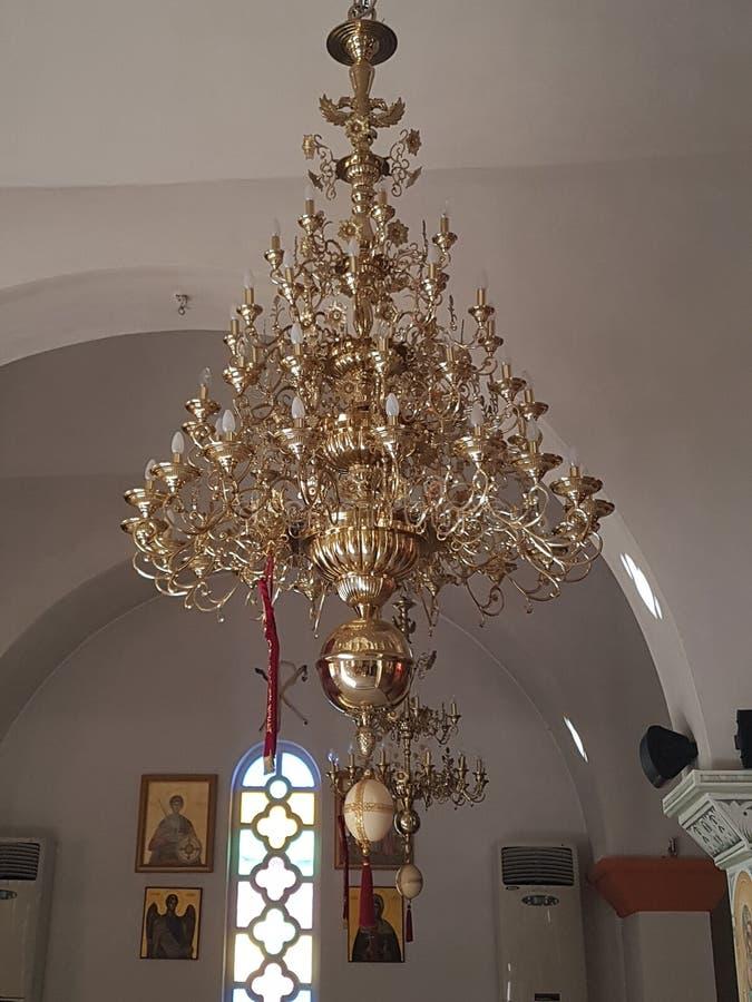 Candelabro dourado foto de stock royalty free