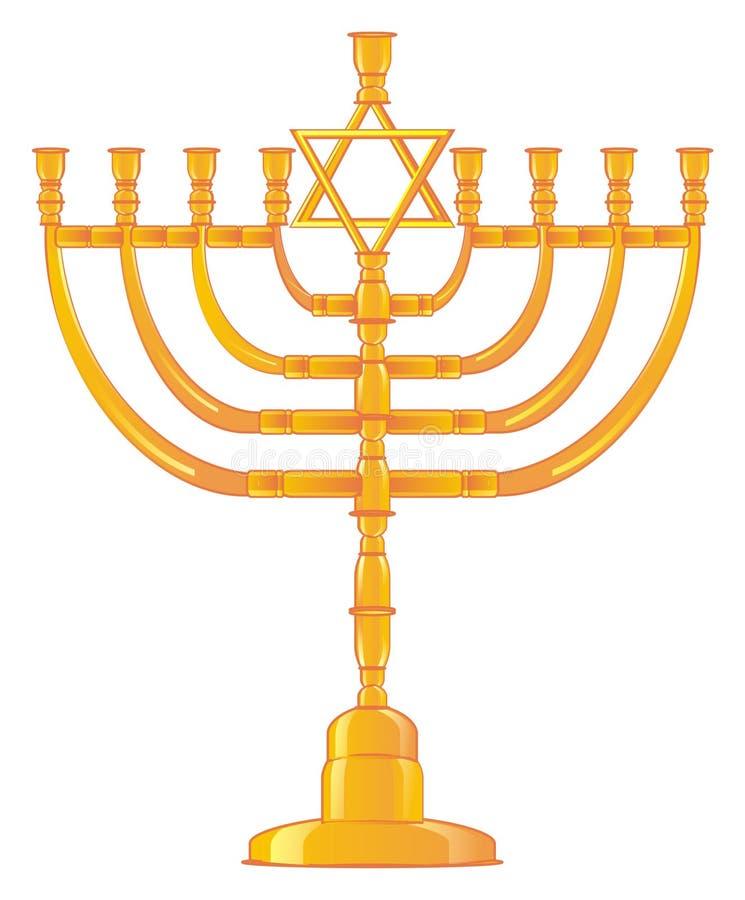 candelabro judeu ilustração stock