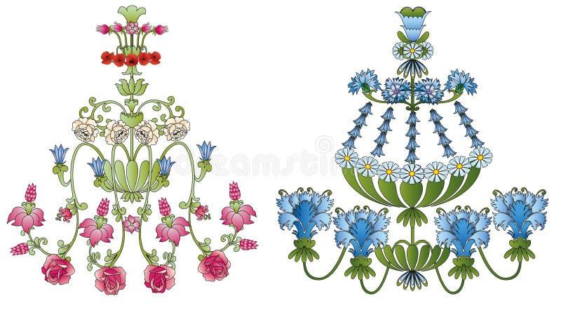 Candelabros da flor ilustração royalty free