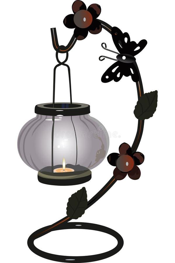 candelabrum vektor illustrationer