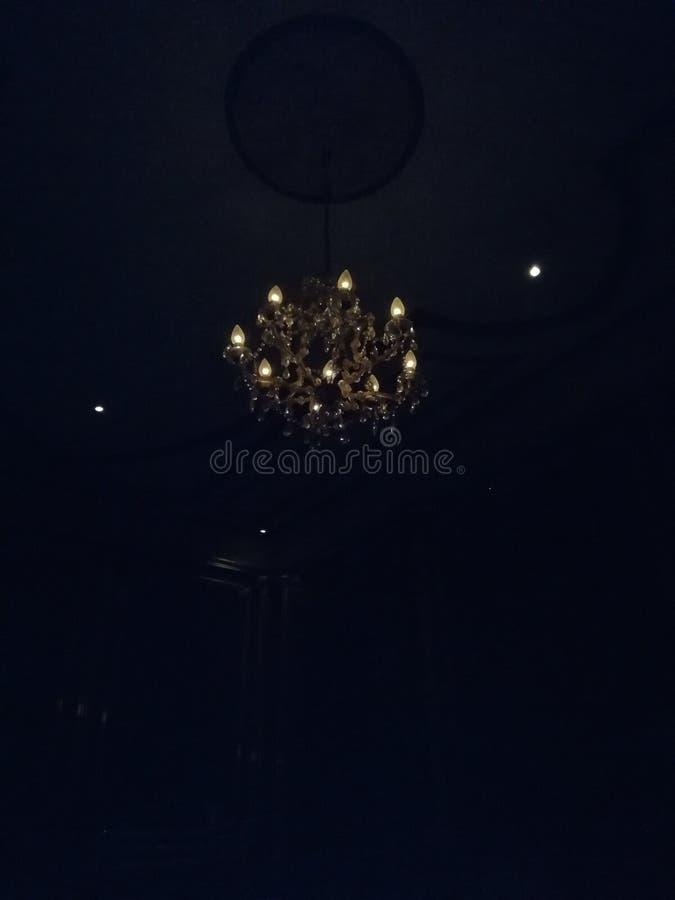 Candelabrum in the dark. Candelabrum dark ligth darkness beatiful stock image