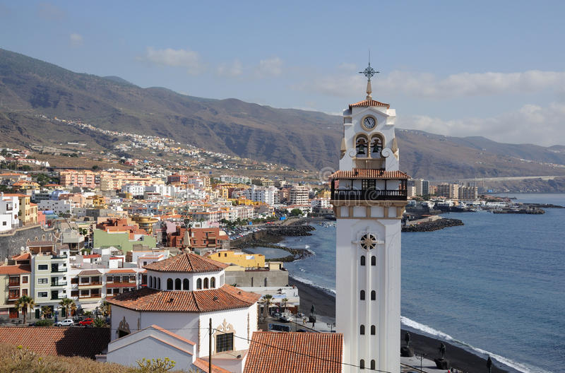 candelaria西班牙tenerife城镇 免版税库存图片