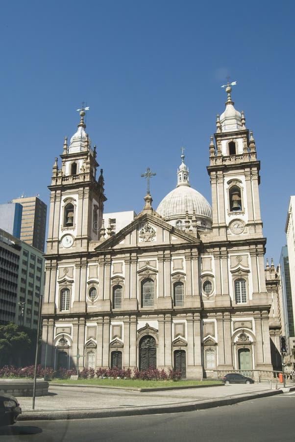 Candelaria Church. Rio de Janeiro, Brazil DownTown stock photos