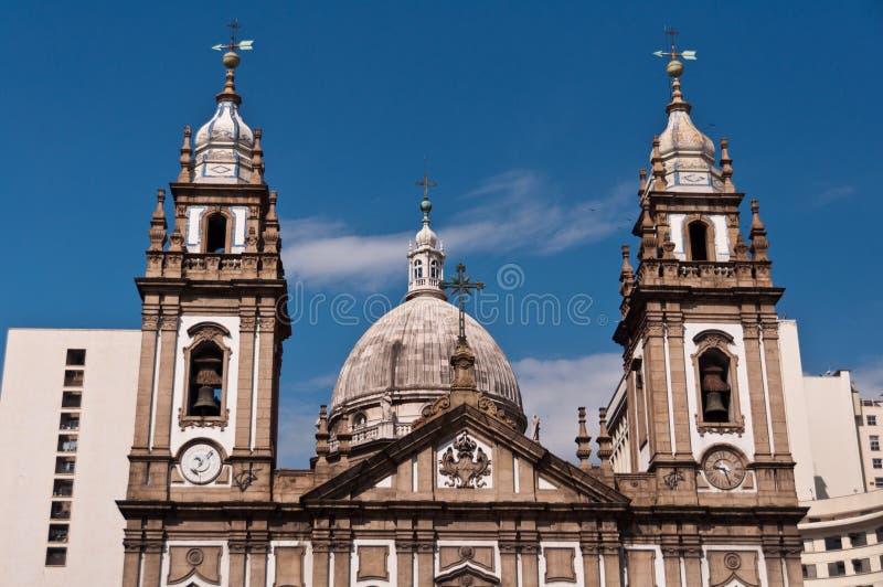 Candelaria Church Facade in Rio de Janeiro immagini stock