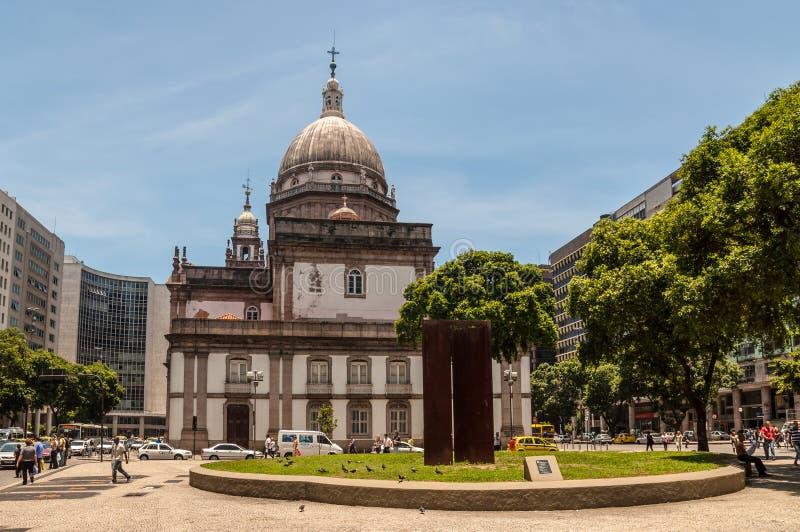 Candelaria Church in Rio de Janeiro royalty free stock photos
