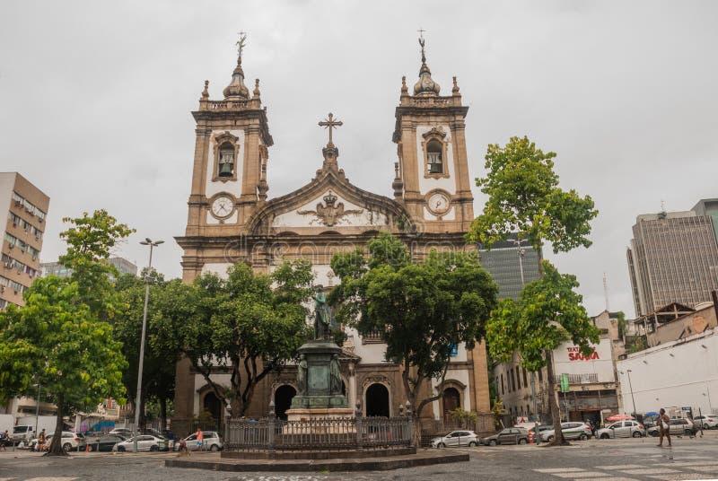 Candelaria kościół w śródmieściu w Rio De Janeiro, Brazylia zdjęcie stock