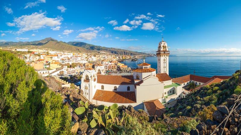 Candelaria town on Tenerife stock photo