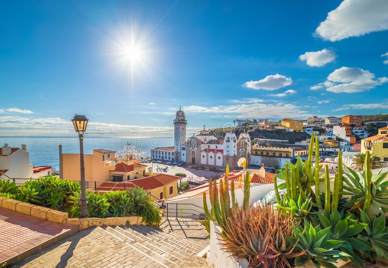 Candelaria town on Tenerife royalty free stock images