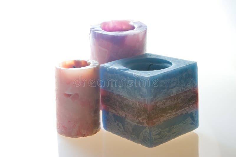 Candele colorate fotografia stock immagine di odore for Candele colorate
