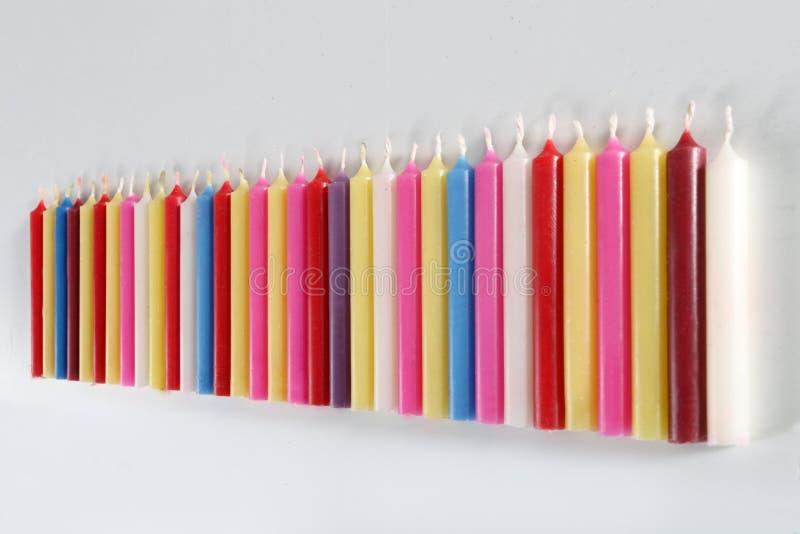 Candele colorate cilindriche immagine stock immagine di for Candele colorate