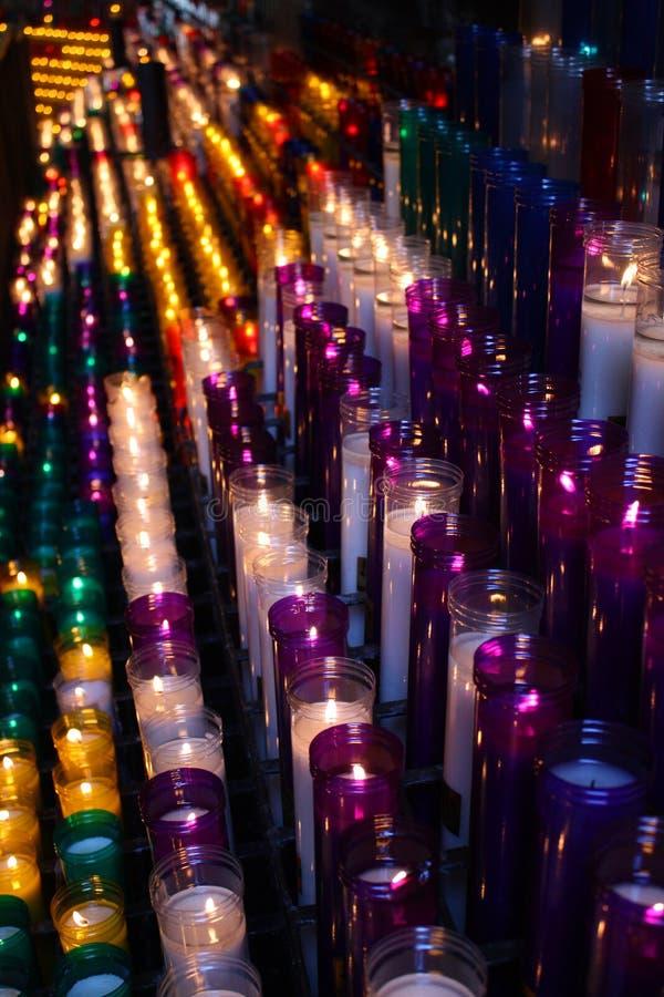 Candele Colourful fotografia stock