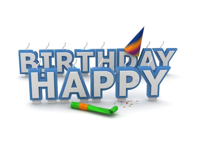 Candele di buon compleanno illustrazione di stock