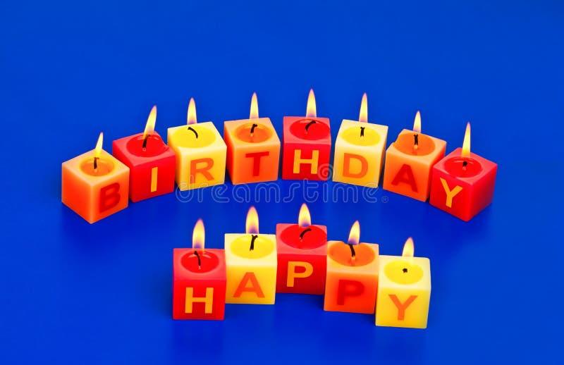 Candele di buon compleanno fotografie stock libere da diritti