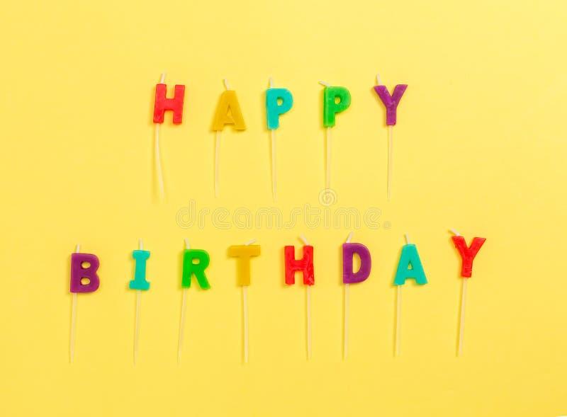 Candele di buon compleanno immagine stock