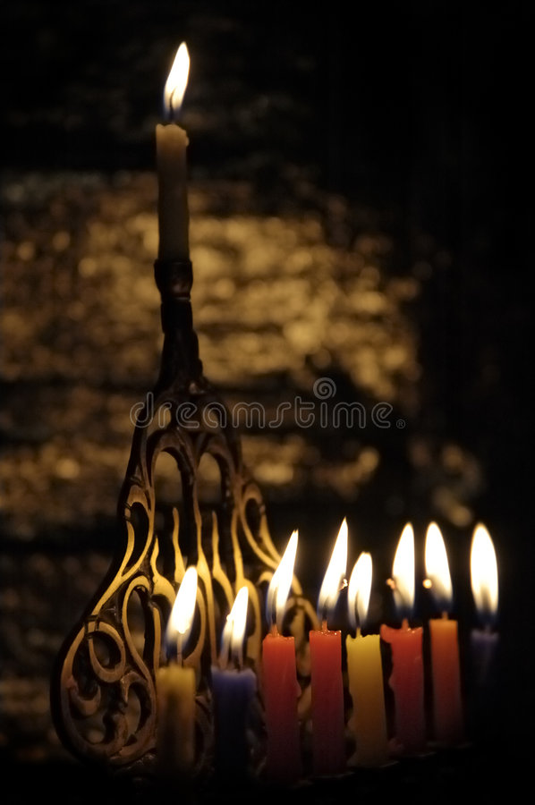 Candele di Chanuka immagine stock