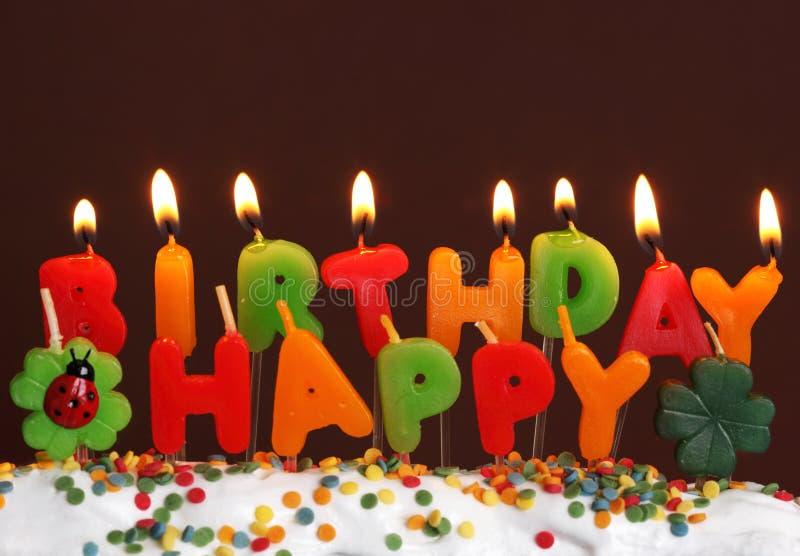 Candele di compleanno fotografia stock libera da diritti