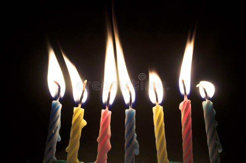 Candele di compleanno fotografia stock