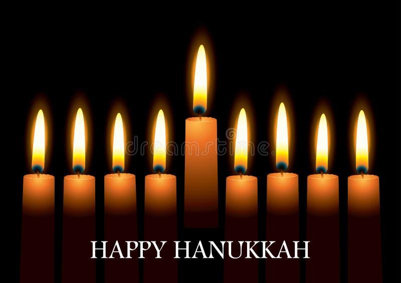 Candele di Hanukkah illustrazione di stock