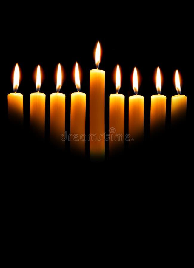 Candele di Hanukkah fotografia stock libera da diritti