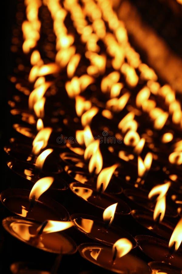 Candele di preghiera fotografia stock
