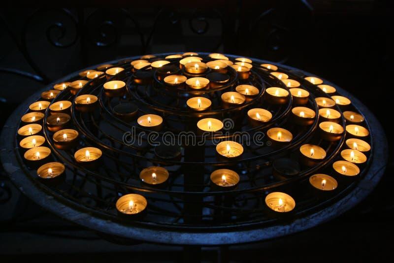 Candele in Notre Dame Cathedral fotografia stock