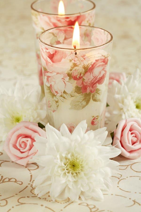 Candele romantiche immagine stock