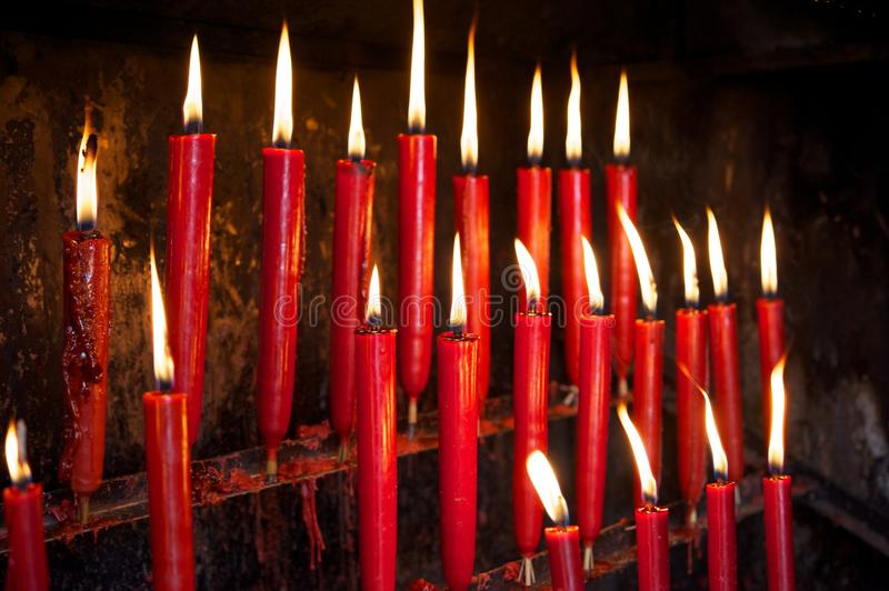 Candele rosse immagine stock