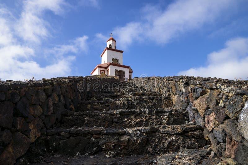 Candeleria Chapel in Frontera El Golfo. Spain stock photography