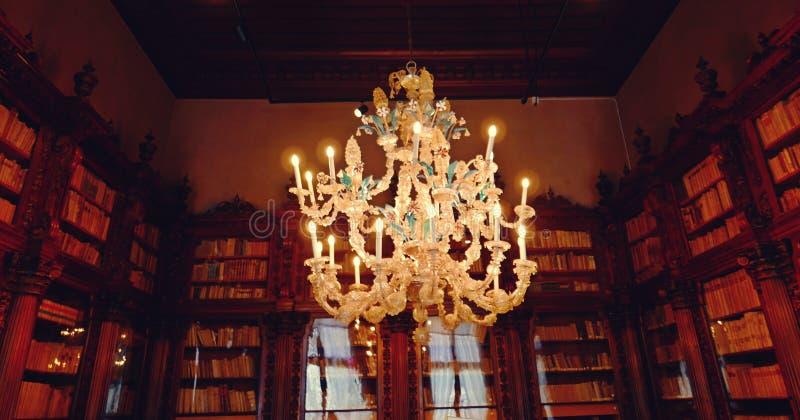 Candeliere di vetro di Murano fotografia stock