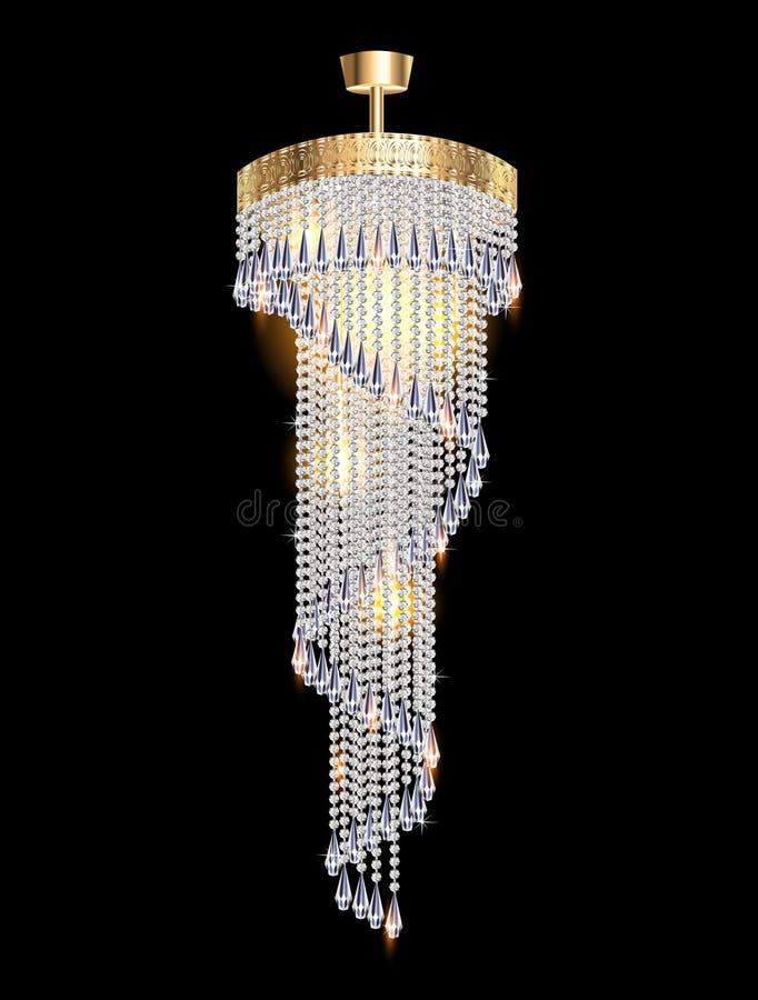 Candeliere moderno con i pendenti di cristallo royalty illustrazione gratis