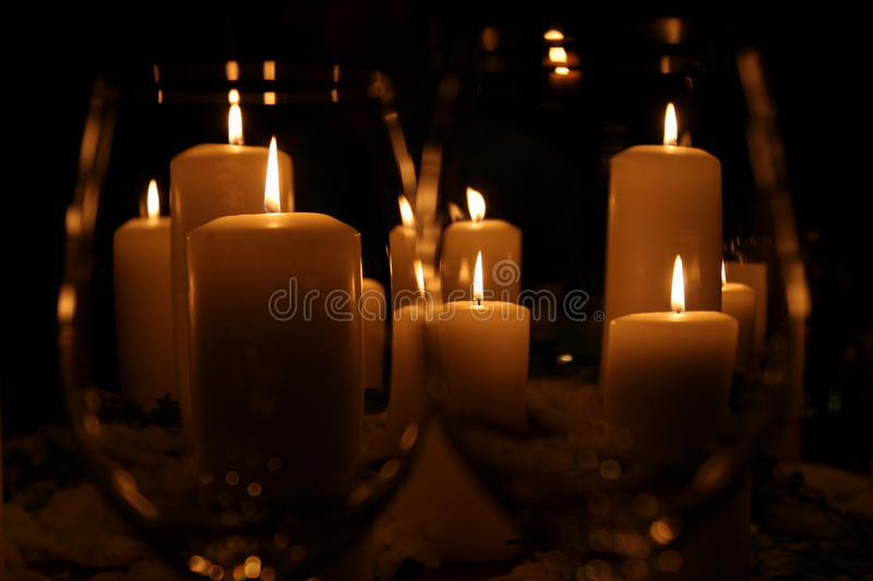 Candellight stockbild