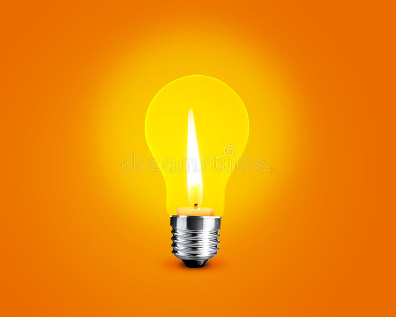 Download Candellight in bulb stock illustration. Image of design - 22361322
