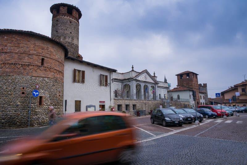 Biella, Piedmont - Italy. CANDELO, BIELLA - MARCH 02, 2015:Medieval ancient village in Ricetto of Candelo, Biella province, Piedmont, Italy royalty free stock image