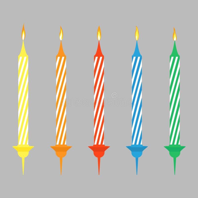 Candels per il compleanno illustrazione vettoriale