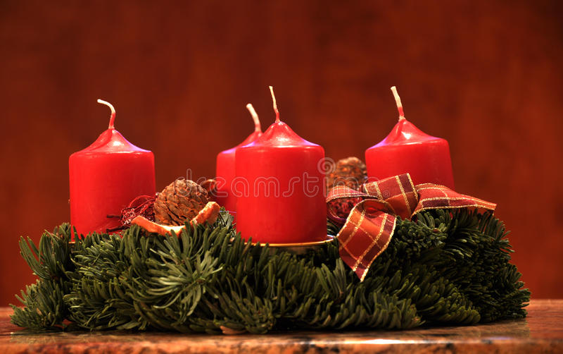 Candels tiene gusto de la decoración de la Navidad fotografía de archivo libre de regalías