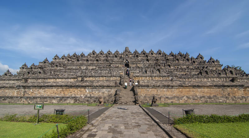 Candi Borobudur en Java central, Indonesia imagen de archivo libre de regalías