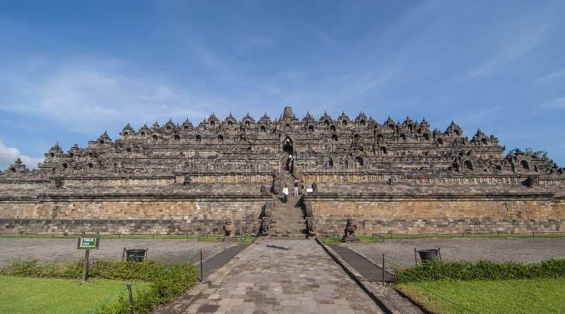 Candi Borobudur in Java centrale, Indonesia immagine stock libera da diritti