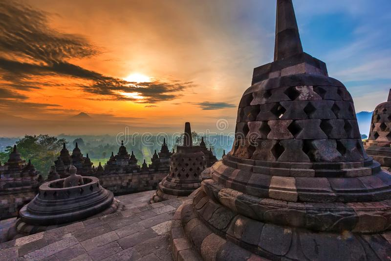 Candi Borobudur, Yogyakarta, Jawa, Индонезия стоковое фото rf