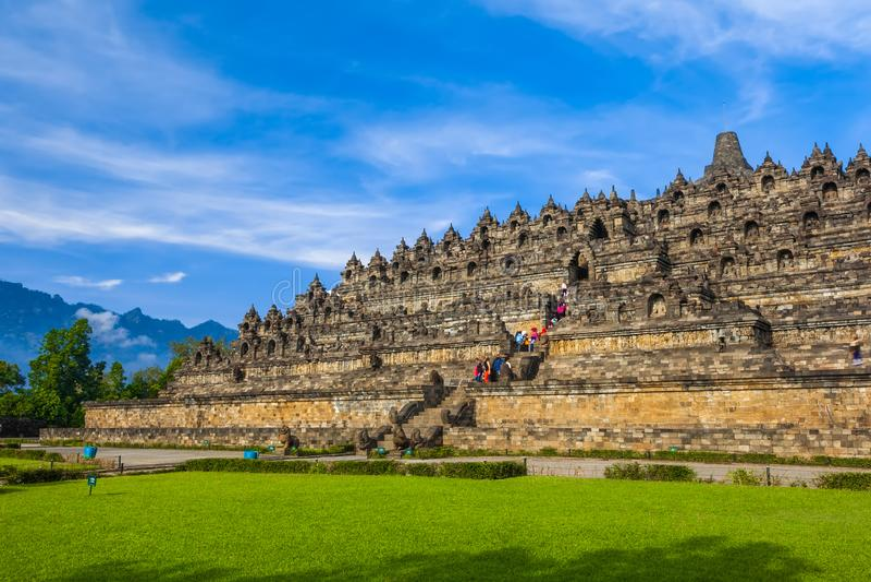 Candi Borobudur, Yogyakarta, Jawa, Indonesië stock afbeeldingen