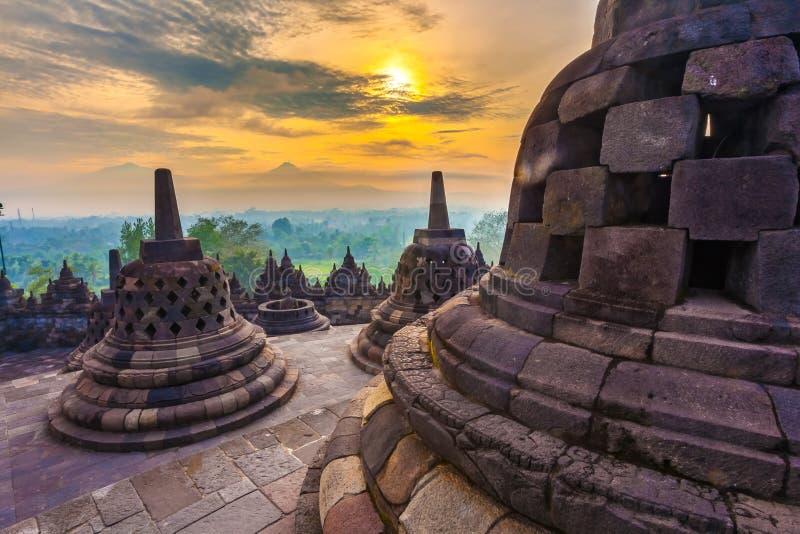 Candi Borobudur, Yogyakarta, Jawa, Indonesia fotografie stock