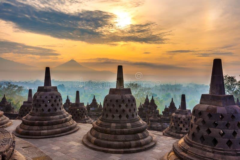Candi Borobudur, Yogyakarta, Jawa, Indonesia fotografia stock