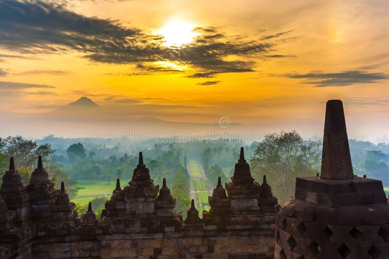 Candi Borobudur, Yogyakarta, Jawa, Indonesia immagini stock libere da diritti