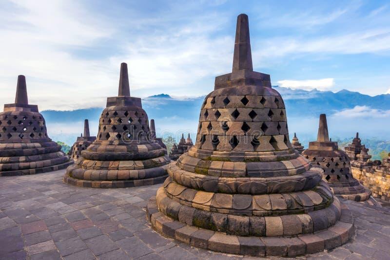 Candi Borobudur, Yogyakarta, Jawa, Indonesia fotografia stock libera da diritti