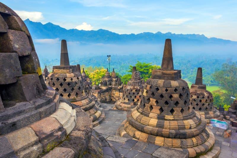 Candi Borobudur, Yogyakarta, Jawa, Indonesia immagine stock libera da diritti