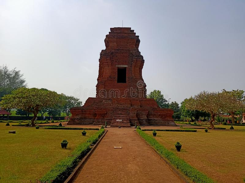 Candi Brahu es una herencia del reino de Majapahit foto de archivo libre de regalías
