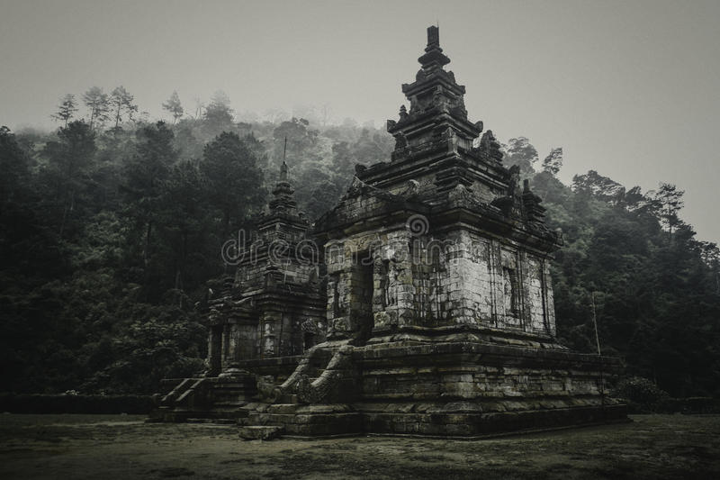 Candi Gedong Songo 免版税图库摄影